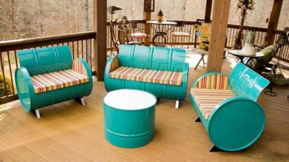 Tendencia: muebles realizados con tachos de aceite   La Voz del Interior