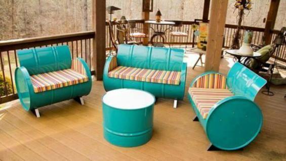Tendencia: muebles realizados con tachos de aceite | La Voz del Interior