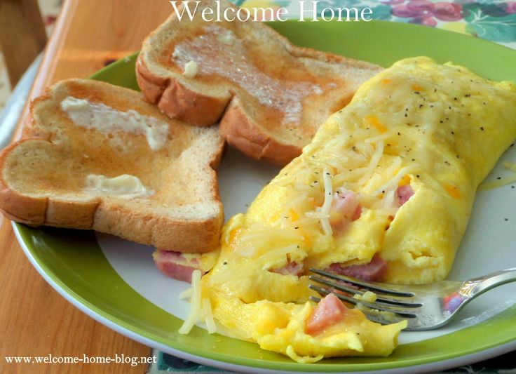 Welcome Home: Perfect Ham and Cheese Omelette
