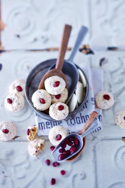 Rezepte: Cashew-Cranberry-Makronen Rezept - [LIVING AT HOME]