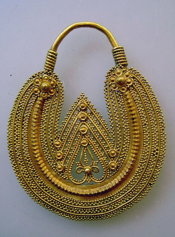 India | Nosering ~ 'bulaq,kundu' ~ gold | 19/20th century.  Himachal Pradesh | Price on request