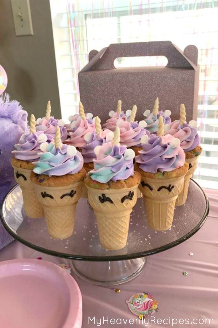 Sie müssen diese Einhorn Cupcakes machen! Dieses Einhornrezept macht die PERFE …   – Backen