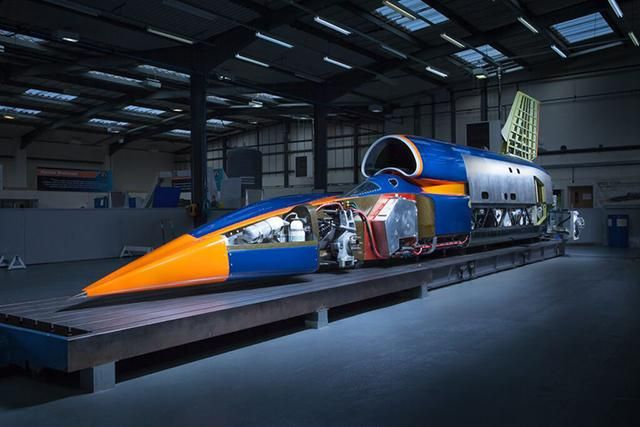 Finally unveiled - the Bloodhound Supersonic Car is 95 per cent complete