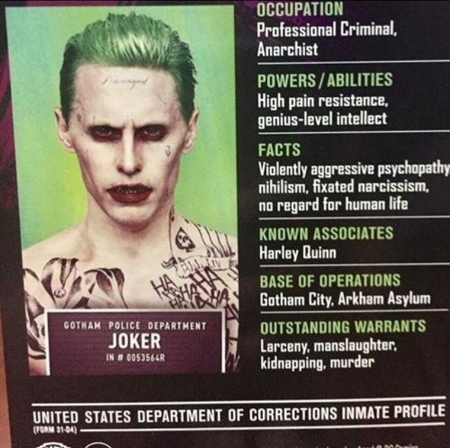 I know it is a little early for Halloween, but my friends and I could dress up like characters from Suicide Squad. One person could hold cards like this.