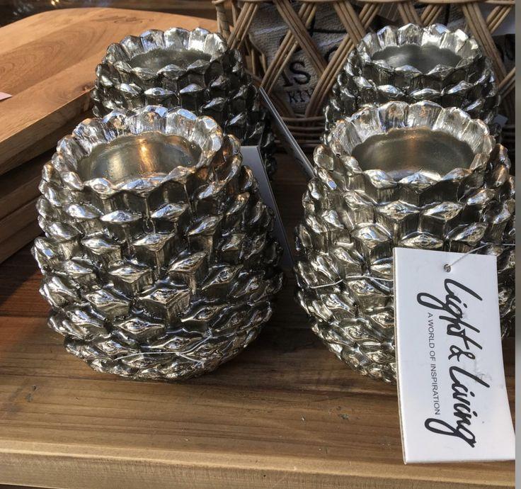 149 kr på Fjøset - Sølv kongle til te-lys H 12 cm