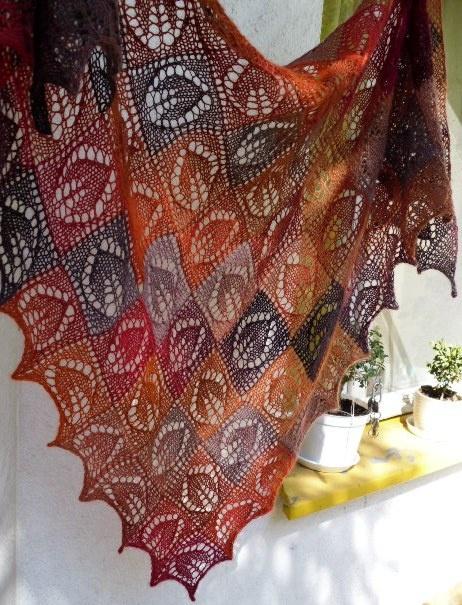 bajkowe koronki: Dianna shawl - step by step