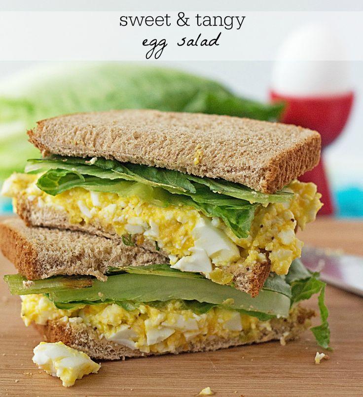 Sweet N Tangy Egg Salad Sandwich Recipe