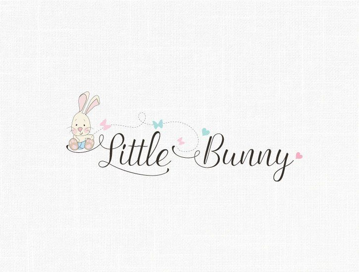 Premade Bunny Logo Design Baby Logo Children Logo Party Logo Etsy Logotipo Loja Logotipo Loja Infantil