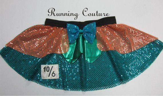 Mad Hatter inspired teal sheer sparkle misses running skirt