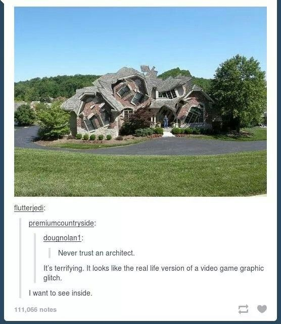 never trust an architect.