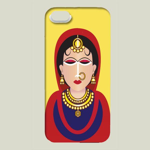 Fun Indie Art from BoomBoomPrints.com! https://www.boomboomprints.com/Product/Harpreet1456/Indian_Woman/iPhone_Cases/iPhone_5_Slim_Case/