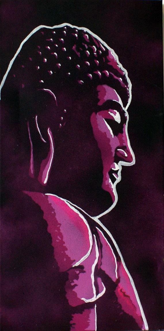 Urban Buddha painting $100 #buddha #zen #canvas #painting