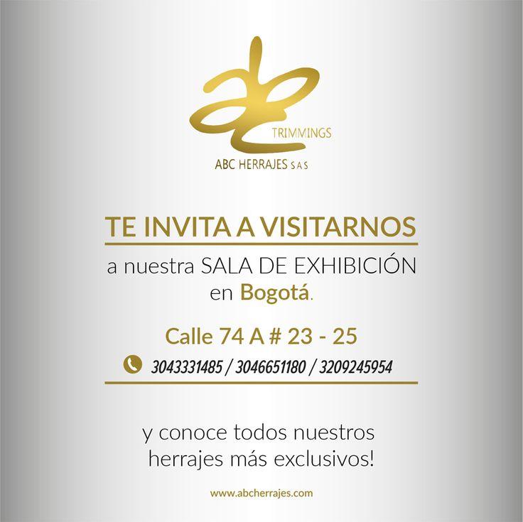 ABC Herrajes te invita a Visitarnos!  Aprovecha esta Feria Internacional del Cuero, para visitarnos y y así asegurarte de tener los mejores herrajes para tus nuevas colecciones.  Visítanos en: www.abcherrajes.com  Puedes hablar con nosotros por los números: Cel / Wsap ventas: 3043331485 Cel / Wsap ventas: 3046651180 Cel / Wsap diseño: 3209245954  #IFLS2016 #Bogota #EICI2016 #FeriadelCuero #cuero #fashion #ABCherrajes #Colombia #Moda #Herrajes #instadaily