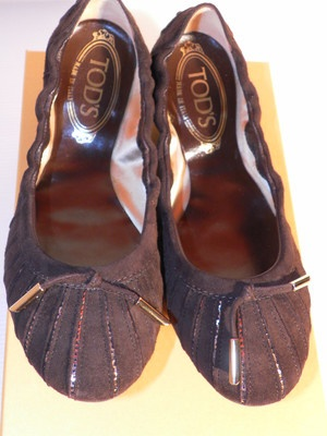 Shoes Scarpe ballerine TOD'S tg 35 1/2 marroni made in Italy