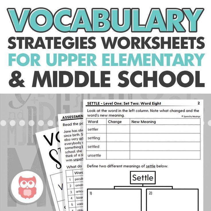 Teaching Upper Level Vocabulary Strategies in Speech Therapy   Speechy Musings