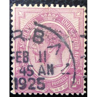 South Africa, King George VI, 2 pence, postmark 1925, VF