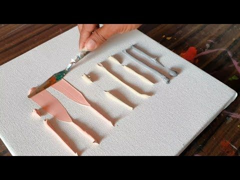 Satisfying Abstract Painting / Simple Demonstration / Acrylic / Spatula / Project 365 Days / Day # 0347 – YouTube