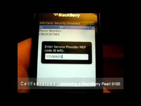 How to unlock BlackBerry Pearl 3G 9100 Locked to Telus