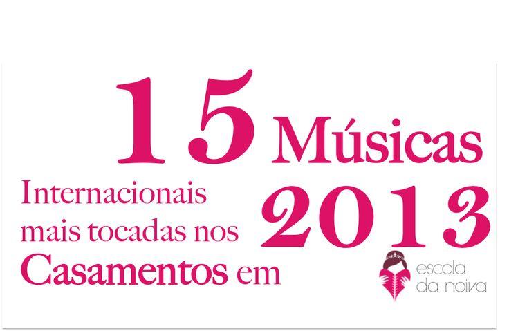 As 15 músicas internacionais mais tocadas nas festas de casamento em 2013