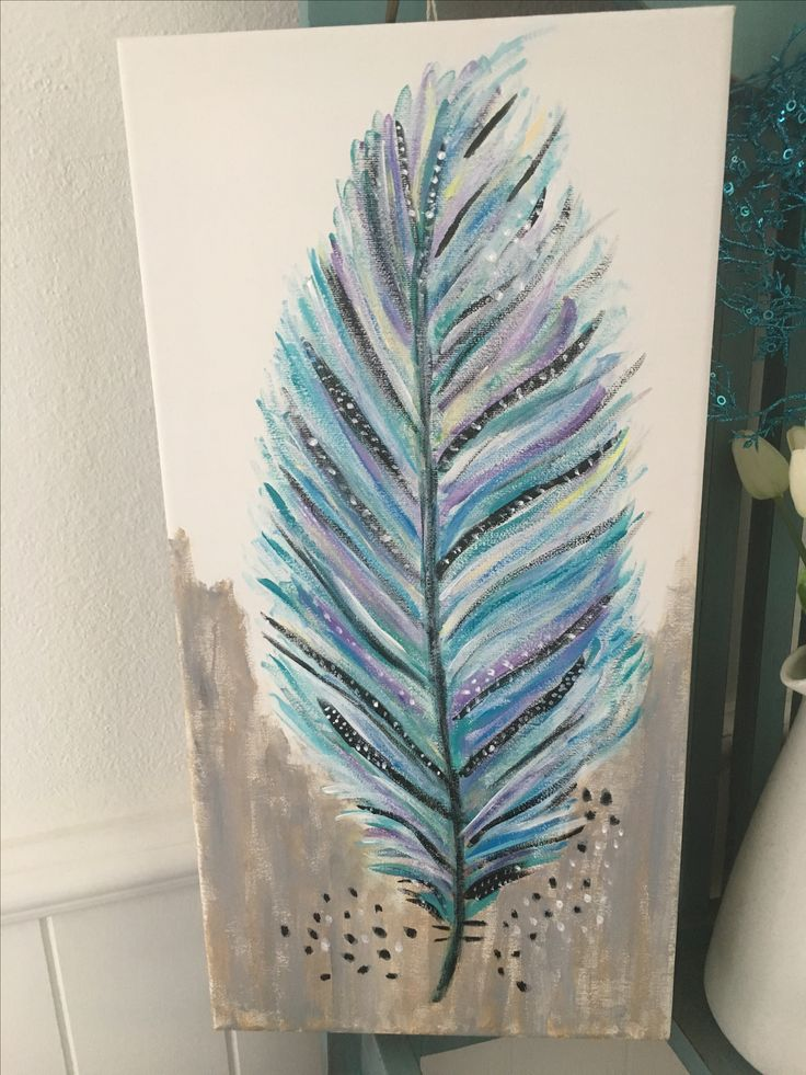 Feather for Hayley acrylic painting