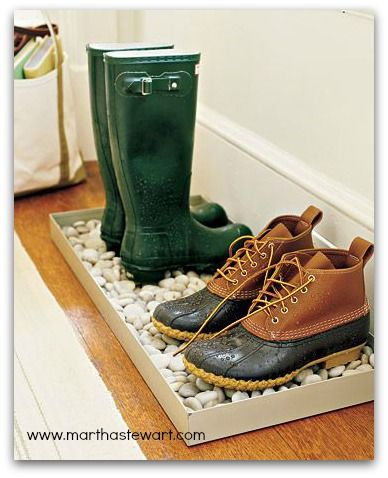 Great idea for keeping the water or mud off your floor!