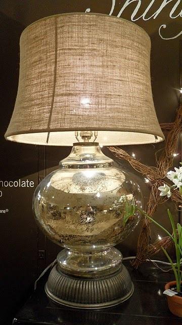 burlap lampshade....