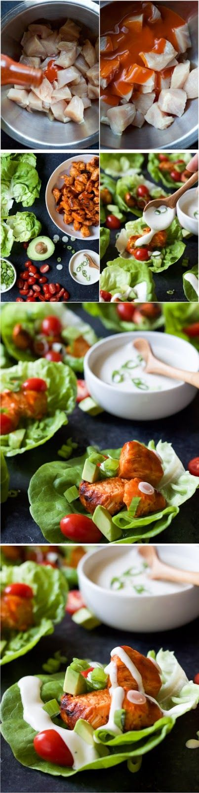 Grilled Buffalo Chicken Lettuce Wraps Healthy Recipe  We don't watch a whole lot of college football, but I can appreciate it. I do think it is way more exciting to watch than NFL games and sometimes it makes me wish I was back in college again.