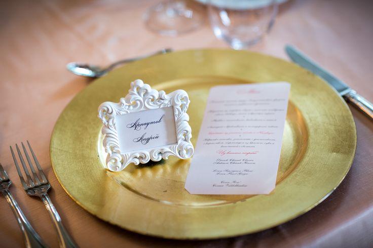 Guest card baroque frame idea / Идея для карточек для гостей. Небольшая рамка в стиле барокко