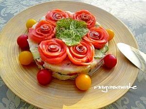 クリスマスに♪ポテトサラダのクリスマスケーキ仕立て