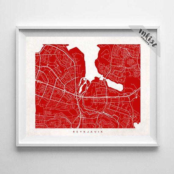 Reykjavik Map, Iceland Print, Iceland Poster, Reykjavik Art, Reykjavik, Modern Art, Artwork For Kitchen, Baby Room, Christmas Gift, Wall Art. PRICES FROM $9.95. CLICK PHOTO FOR DETAILS.#inkistprints #map #streetmap #giftforher #homedecor #nursery #wallart #walldecor #poster #print #christmas #christmasgift #weddinggift #nurserydecor #mothersdaygift #fathersdaygift #babygift #valentinesdaygift #dorm #decor #livingroom #bedroom