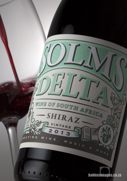Wine Photography for Marketing & Advertising: Solms Delta Shiraz 2013. www.bakkesimages.co.za