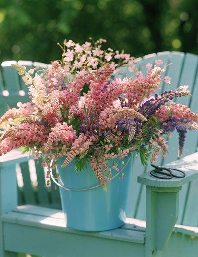 Mooi boeket uit eigen tuin!