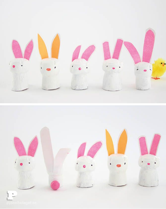 Make bunnies from wine corks!