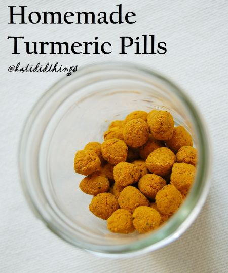 Homemade Turmeric Pills @katididthings