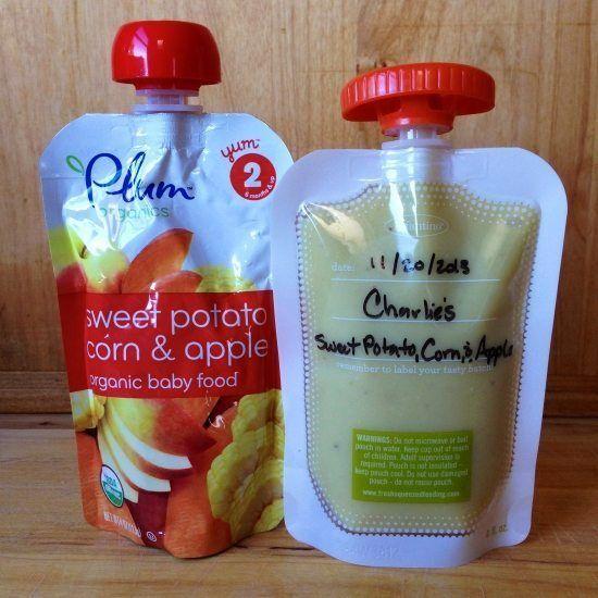 Sweet Potato, Corn, & Apple: Plum Organic vs. Charlie's Homemade Squeezie