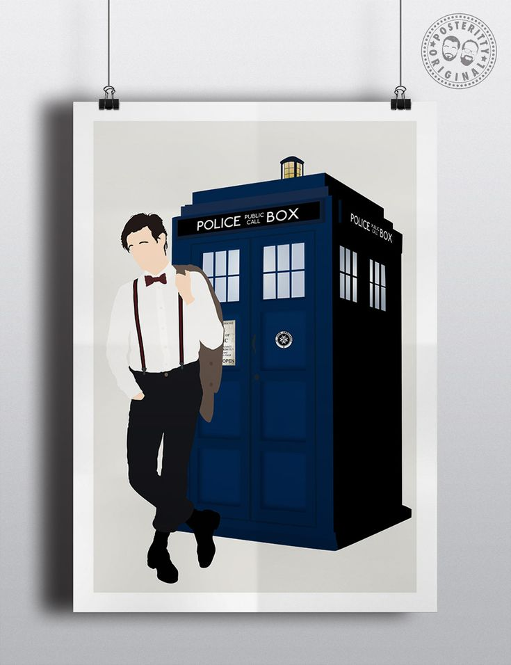 #minimalist #poster #posteritty #fanart #whovian #drwho #doctorwhol #mattsmith #tardis #fez