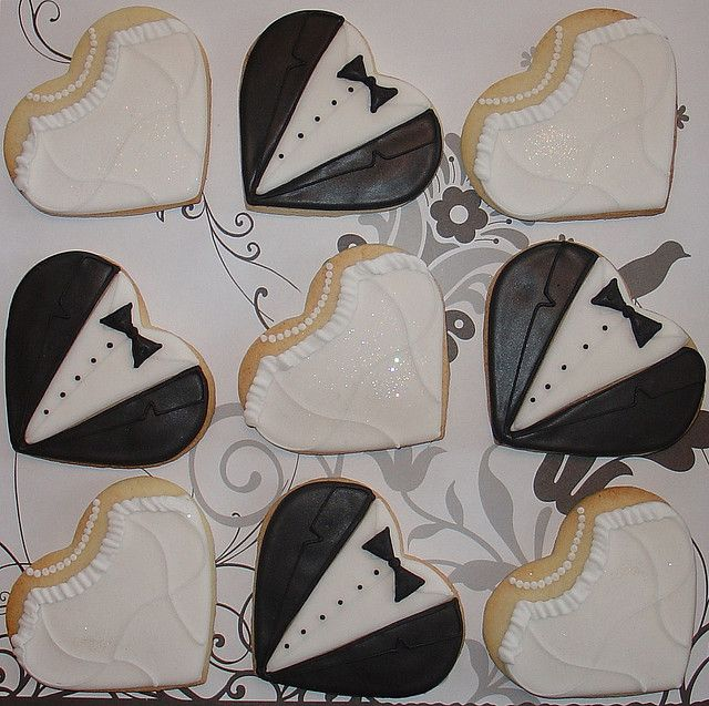 wedding cookies––Once again, could be all tuxes :)