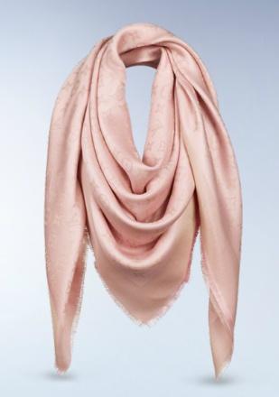 monogram shine shawl in pale pink. by louis vuitton.