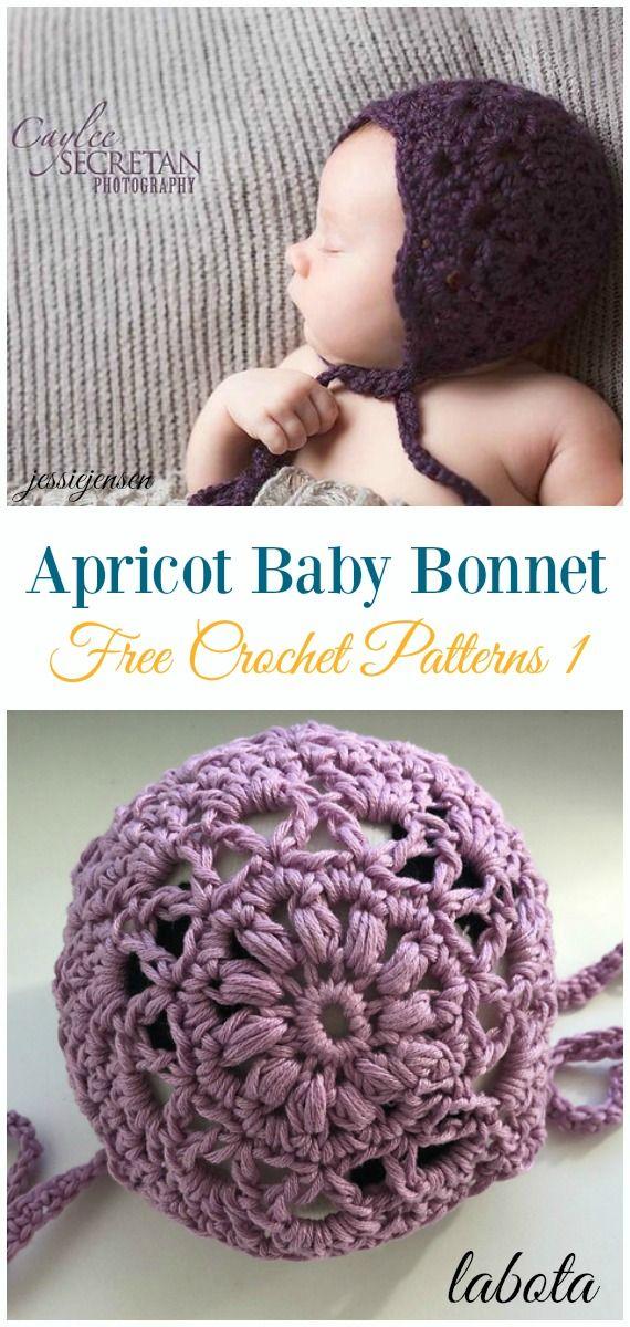 Baby Bonnet Hat Free Crochet Patterns Crochet Baby Pinterest