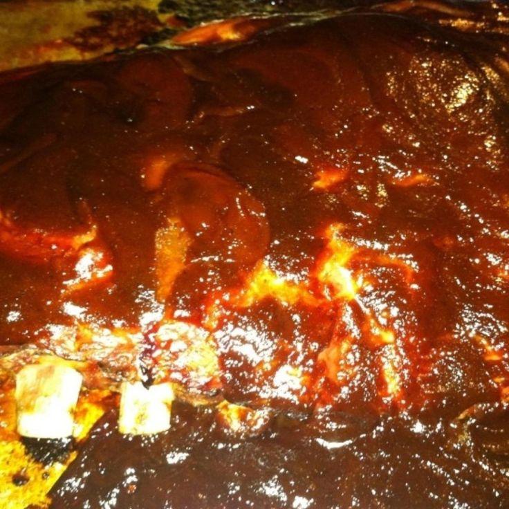 This is how I cook my ribs in the oven. It's a really easy no fuss recipe. We used pork rub and it was so yummy!!