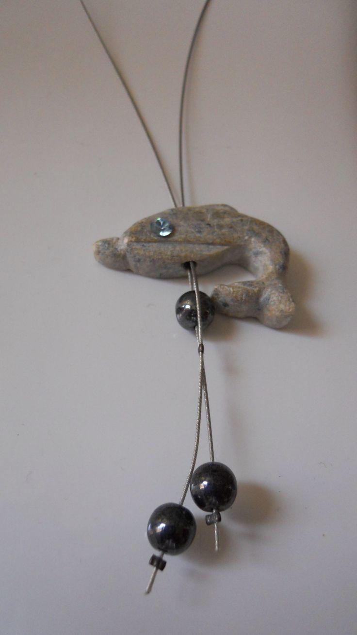 Šperk delfín - mastek