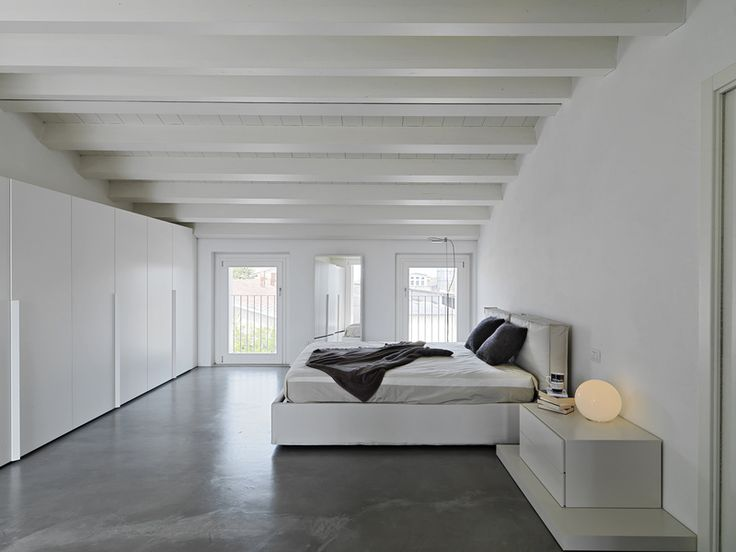 Concrete Floor In Minimalist Modern Bedroom Loft Style ToscaSurfaces Love