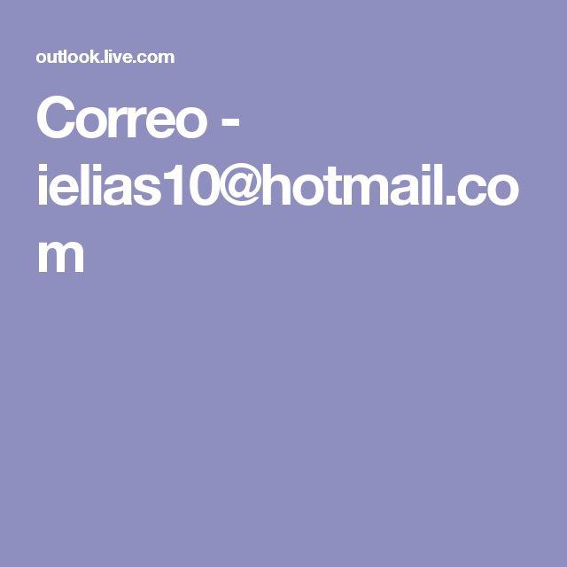 Correo - ielias10@hotmail.com