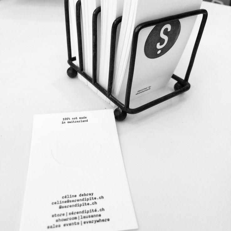 business card sérendipité.ch - creative bookmark + business card - typography - offset - lausanne - switzerland - Céline Debray - independent bookstore - magazines