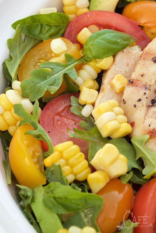 ... chicken breasts to top a fabulous fresh summer salad with a sweet and