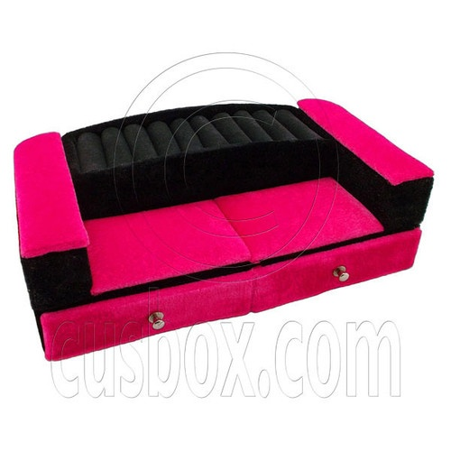 Pink Black Sofa Drawer Jewelry Box 1 6 Barbie Dollu0027s House Dollhouse  Furniture | EBay