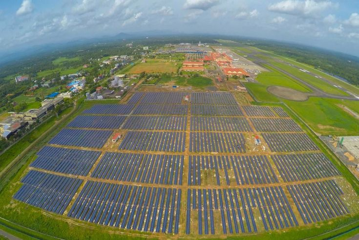 45-Acre Solar Farm Powers Entire Airport - http://www.psfk.com/2015/08/solar-farm-powers-airport-cochin-international-airport.html