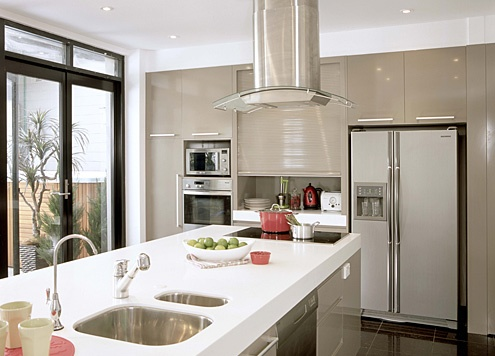 Kitchen laminex freestyle in artic white laminex for Laminex kitchen ideas