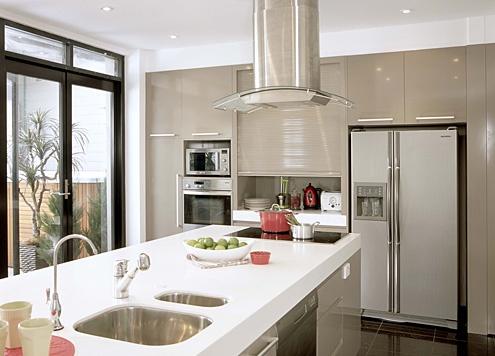 Kitchen laminex freestyle in artic white laminex for Kitchen benchtop ideas