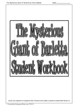 Worksheets to supplement The Mysterious Giant of Barletta as published in Houghton Mifflin Reading 3.1.Included are: two vocabulary activities which focus on using a combination of dictionary skills and context clues, a getting the details activity, ten comprehension questions with a focus on higher level thinking activities, a making inferences review and a making inferences activity. (8 pages).The preview includes all the pages so please download it and take a look.Created Feb…